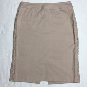 Bandolino Tan Skirt with Side Gather Design